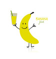 banana funny character for your design vector image vector image