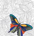 banner butterflies vector image