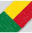 Benin grunge flag vector image vector image