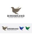 bird brand logo design vector image vector image