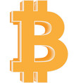 bitcoin icon cryptocurrency and blockchain symbol vector image vector image