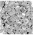 cartoon sketchy doodles japan food vector image vector image