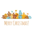 Christmas Background Gingerbread Cookies vector image vector image