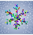 Christmas colorful confetti snowflake vector image