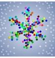 Christmas colorful confetti snowflake vector image