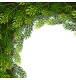 christmas wreath frame from fir tree branches vector image vector image