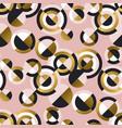circular geometric shapes retro seamless pattern vector image vector image