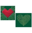 Computer motherboard with heart vector image