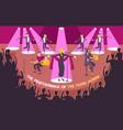 concert scene flat composition vector image vector image