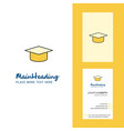 convocation cap creative logo and business card vector image