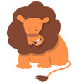 cute lion animal character vector image vector image