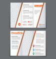 design folding flyer with space for a photo