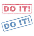 do it exclamation textile stamps vector image vector image