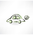 eco car grunge icon vector image vector image