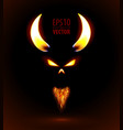 Fire silhouette of devil vector image vector image