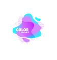 gradient abstract banners with flowing shapes vector image vector image