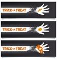 Halloween creative banners template vector image vector image