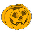 halloween pumpkin on white background vector image vector image