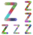 Happy colorful fractal font set - letter Z vector image vector image