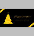 happy new year greeting card template vector image vector image