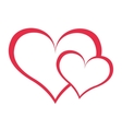 hearts love red icon vector image vector image