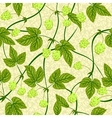 humulus seamless background vector image vector image