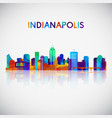 indianapolis skyline silhouette vector image vector image