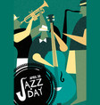 international jazz day retro poster live music vector image vector image