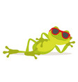 lazy frog vector image