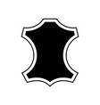 leather logo icon recycled symbol vector image