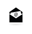 letter icon for internet vector image vector image