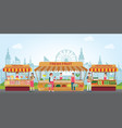 local market place with fresh foods vector image