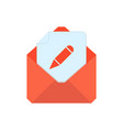 mail symbol envelope icon edit envelope vector image
