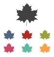 Maple leaf icons set vector image