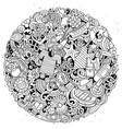 marine hand drawn doodles vector image vector image