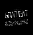 modern gradient font alphabet and numbers vector image