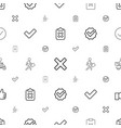 ok icons pattern seamless white background vector image vector image