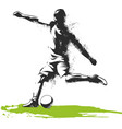 one caucasian soccer player man playing kicking in vector image vector image
