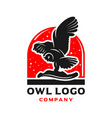owl logo design with circles vector image vector image