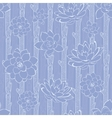 Pastel Purple Blooming Branches Seamless vector image vector image