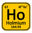 Periodic table element holmium icon vector image vector image