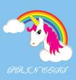 princess unicorn vector image