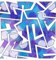 purple geometric seamless pattern vector image vector image