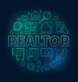 realtor round colored vector image vector image