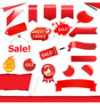 Red Labels Set vector image vector image
