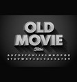 retro style font old movie title screen alphabet vector image vector image