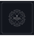 Royal luxury emblem vector image vector image