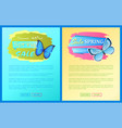 sale spring discount blue butterfly with dot wings vector image vector image