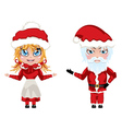 Santa and Mrs Claus vector image vector image
