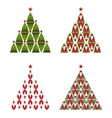 Santa Christmas Tree vector image vector image